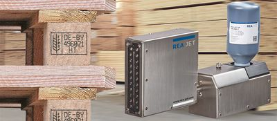 Piezo system for IPPC marking on wooden pallets - REA JET GK 2.0