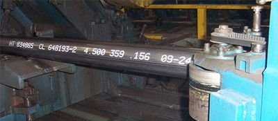 Steel marking of steel pipes - lateral view - REA JET DOD