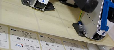 High resolution inkjet printer for backside numbering - REA JET Numbering